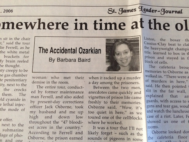 Accidental Ozarkian Barbara Baird St. James Leader Journal