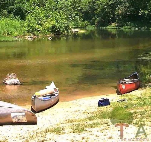 fun float trip gravel bar