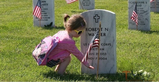 memorialday-girl-grave Josh steele