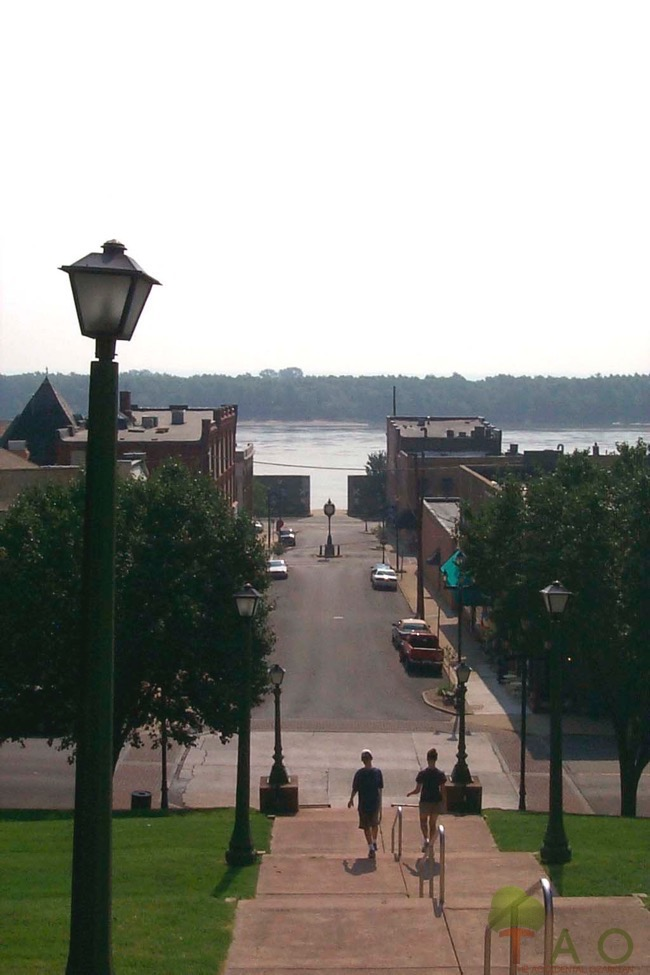 Mississippi from courthouse steps Cape Girardeau
