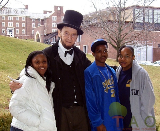 Abe Lincoln at Lincoln University