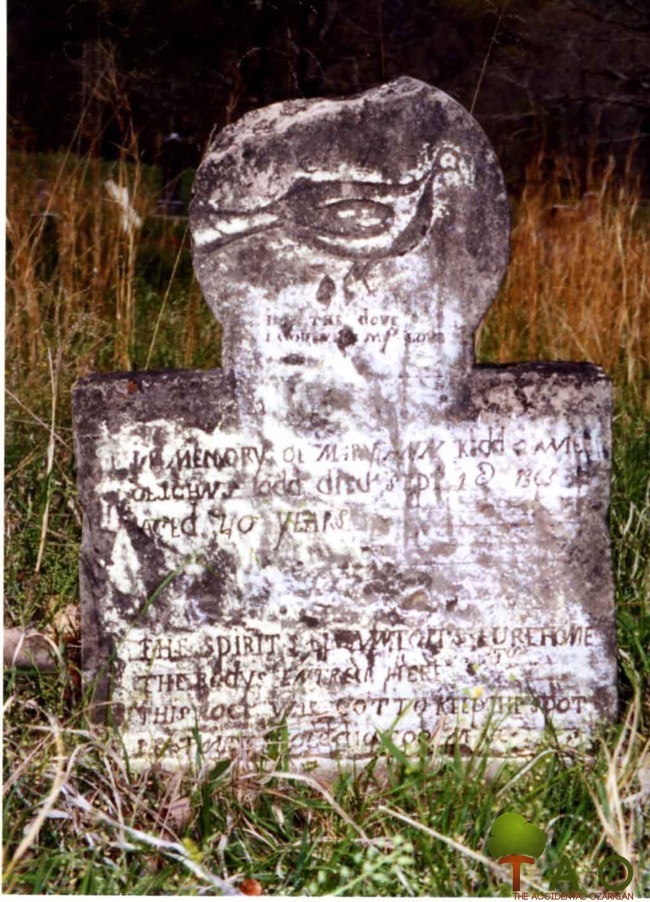 dove folk art tombstone