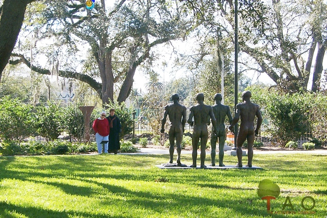 Ladies at Sculpture Garden New Orleans