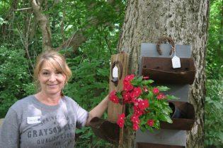 Cheryl Thompson elevator bin planter