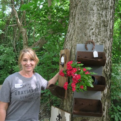 Cheryl Thompson elevator bin planter