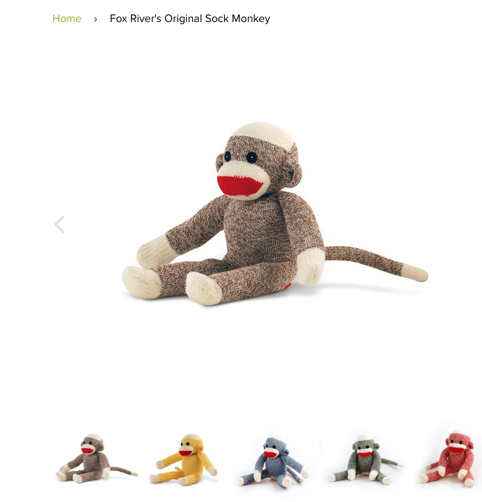 Fox Sox sock monkey