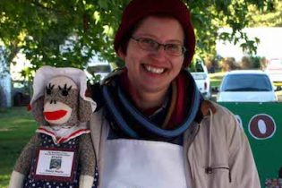 Sock monkey lady copyfeature