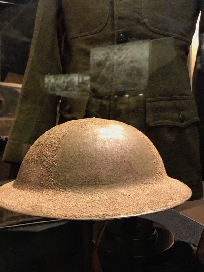 dough boy helmet ww1 museum