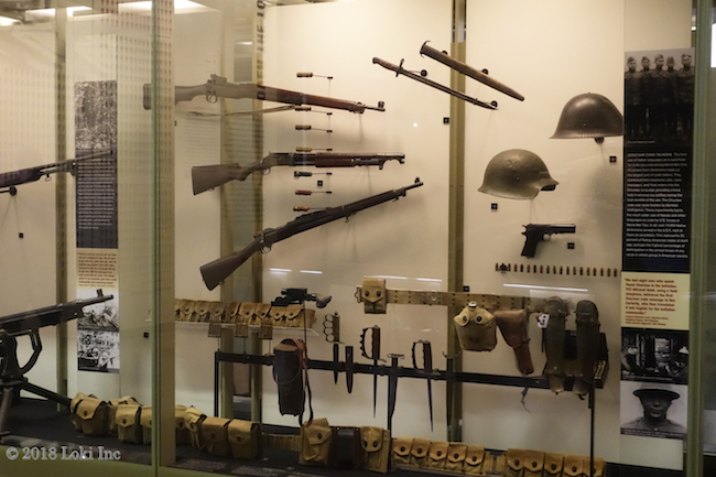 display case helmets guns KC WW1 copy