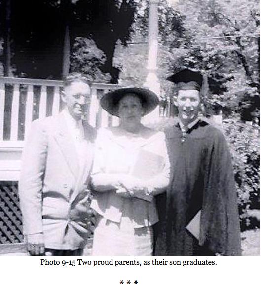Richard Bullock Part 1 Richard Bullock and parents on graduation day.