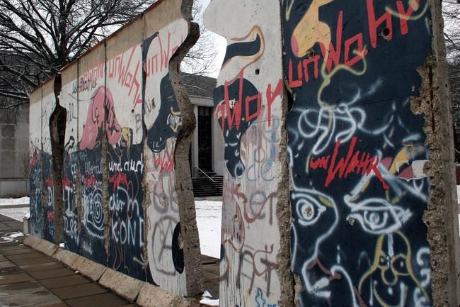 Berlin Wall with Edwina Sandys' art