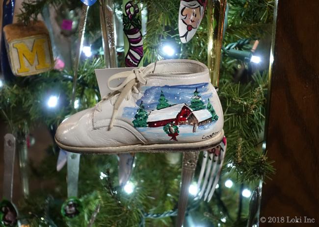 Cheryl Cooper baby shoe painted