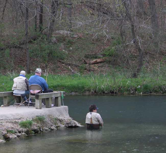 Bennett Spring fishing