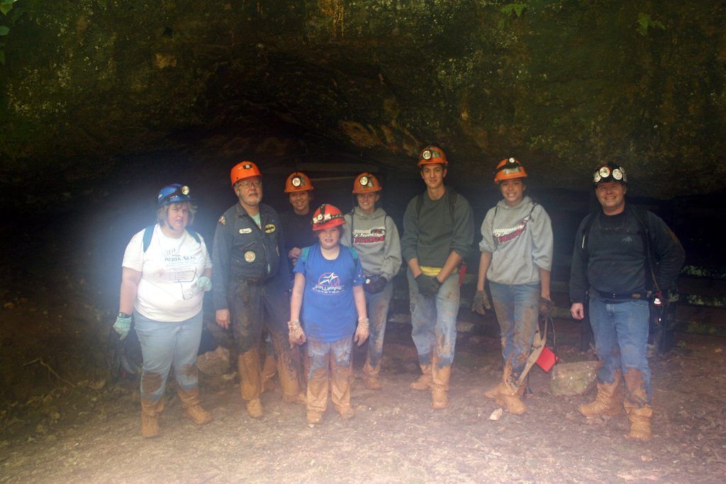 wild caving mushroom cave ozarks