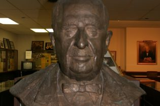 J.C. Penney bust at museum