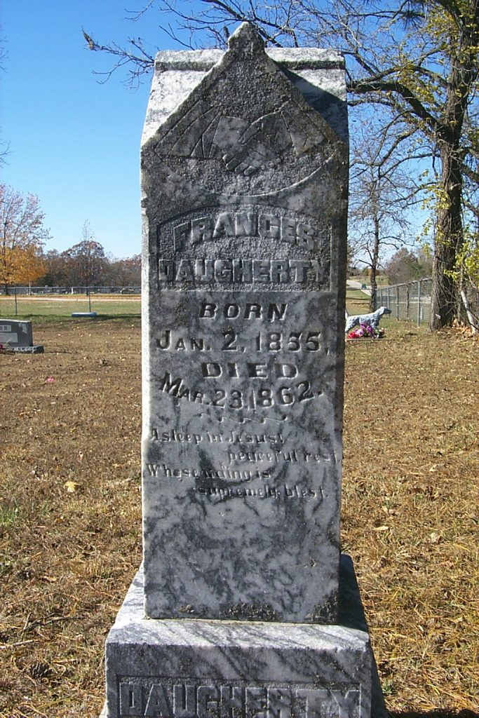 Victorian tombstone at lake of ozarks clasped hands