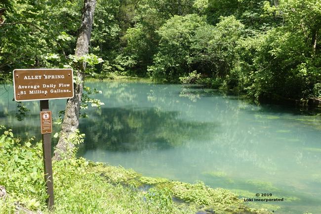 Alley Spring mill pond