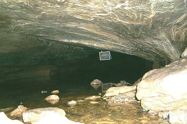 Icebox entrance into long cave