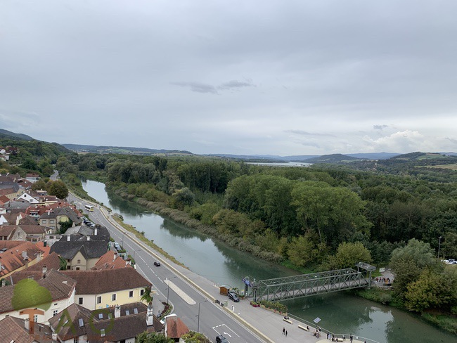 View from balcony at Melk Abbey Danube