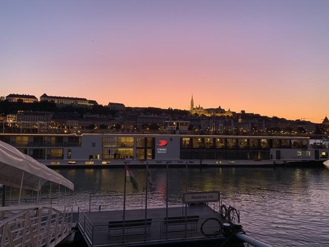 Viking Bragi on Danube in Budapest