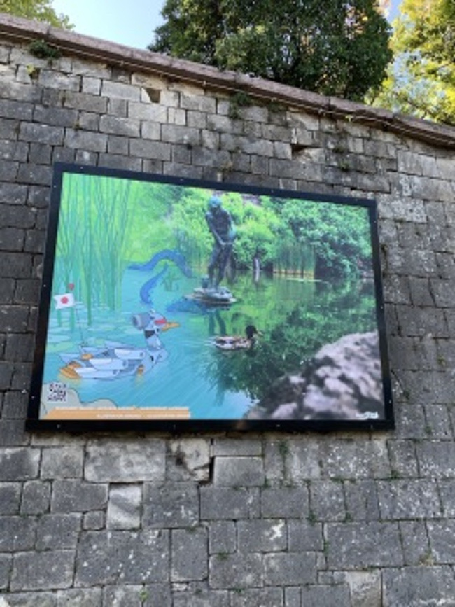 artwork on citadel budapest