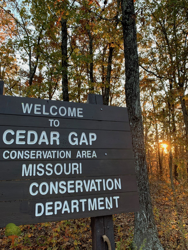 Cedar Gap CA sign