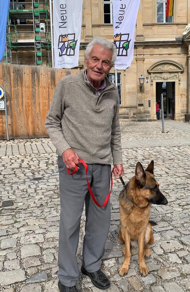 german shepherd and human bamberg