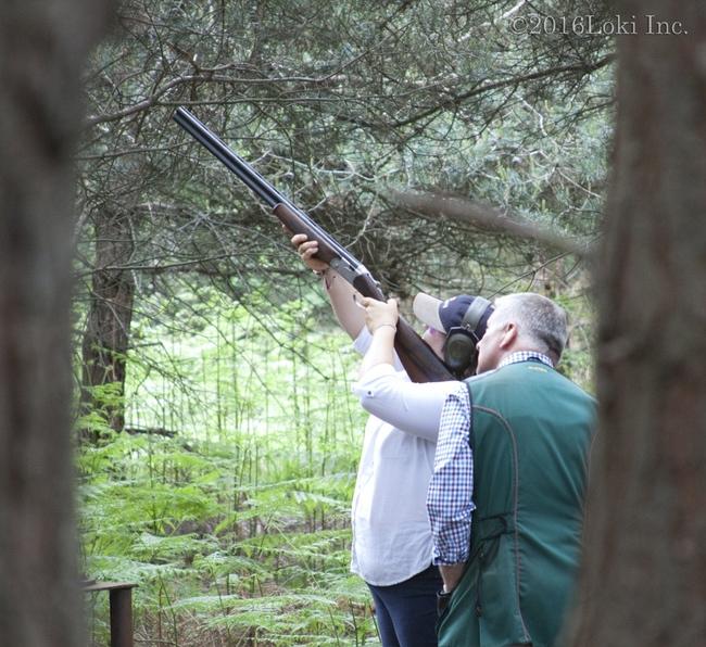 Shooting instruction shotgun England