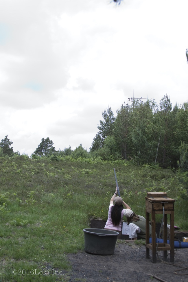 women shooting Bislee