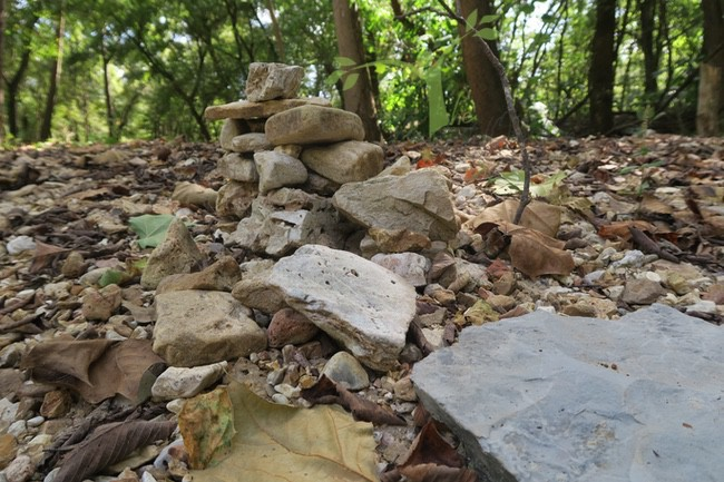 cairn alongside Hunter Creek creekin' in the ozarks