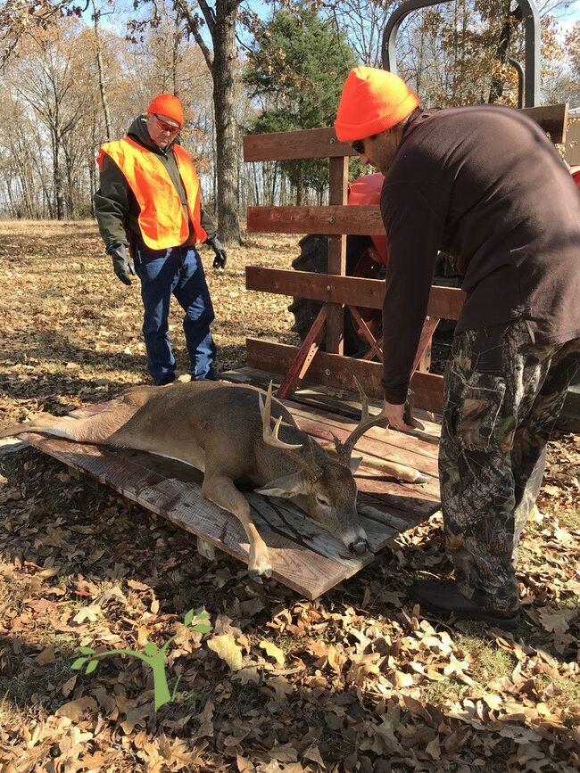 Loading up a deer Ozarks