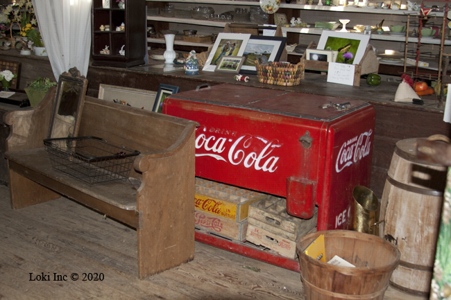hodge podge of stuff at Topaz General Store