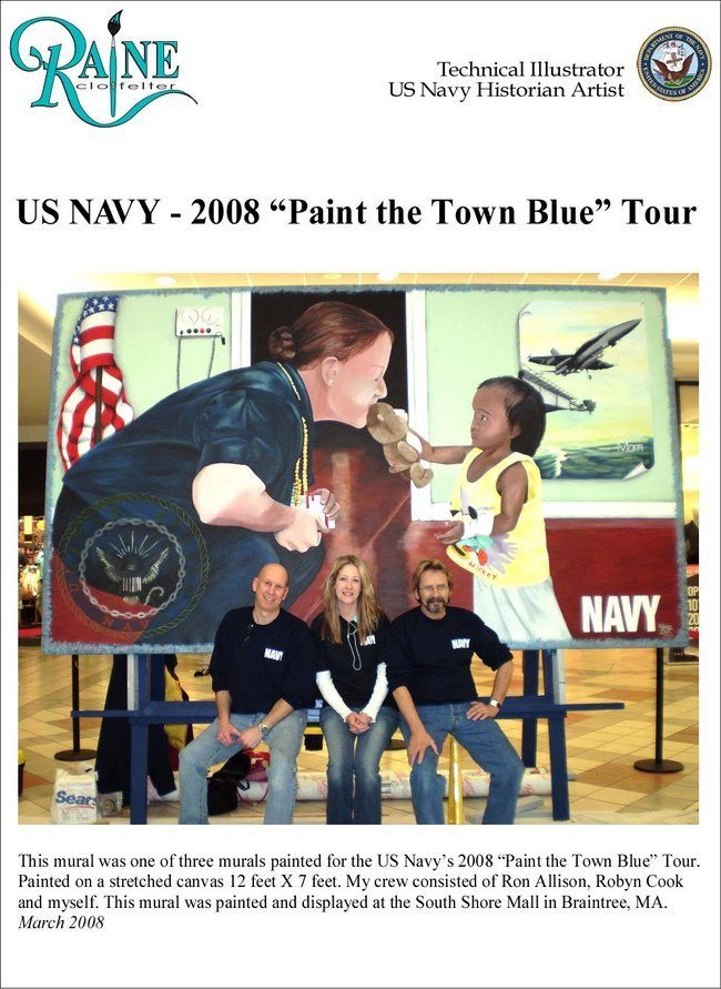 Raine Clotfelter mural Navy