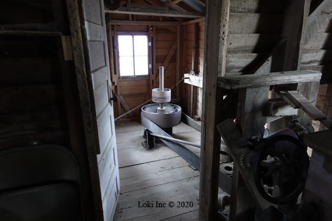 corn grinding room Topaz Mill