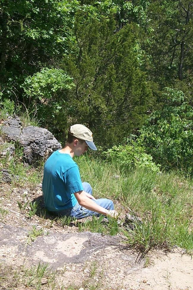 Al on Cedar Bluff Trail lookout