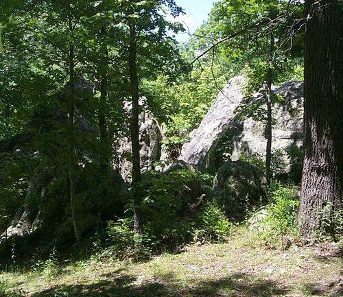 Blossom Rocks at Lane Spring Recreation Area