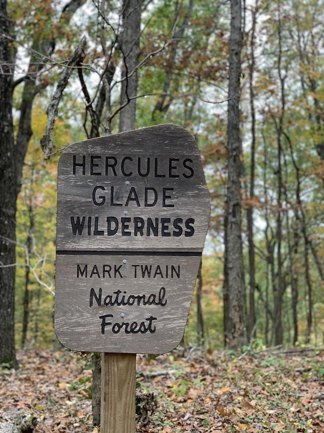 Hercules Glades Wilderness sign