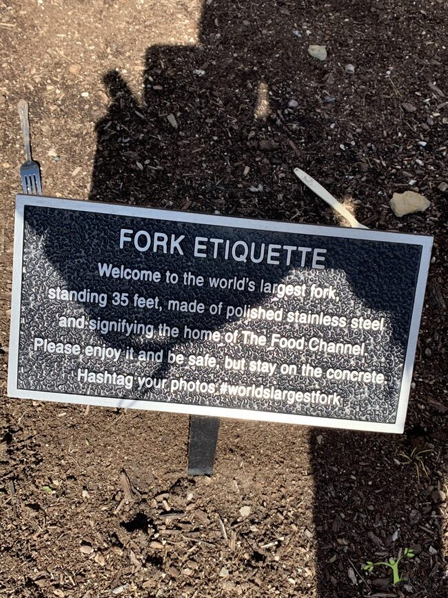 placque near fork in Springfield