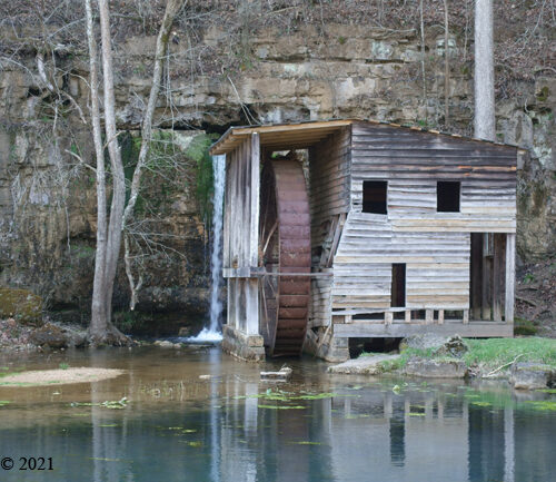 Falling Spring Mill and its reflection
