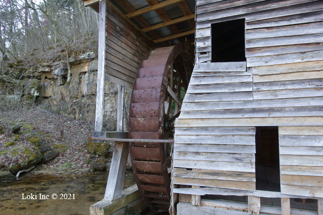 Falling Spring Mill wheel and mill