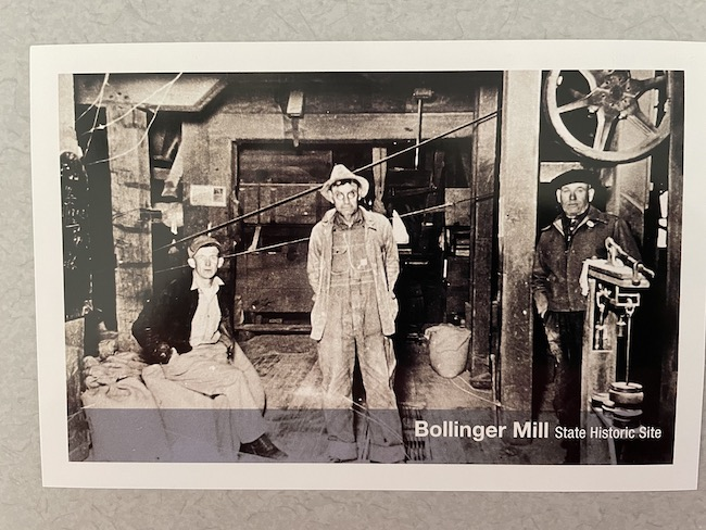 Masters on postcard of mill